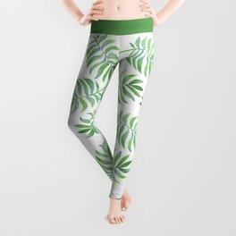 Tropical Palm Leaf Leggings