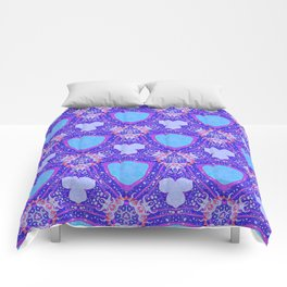 Abstract Pattern-Inspired by the Great Wave Off Kanagawa-Red/Purple/Blue Comforters