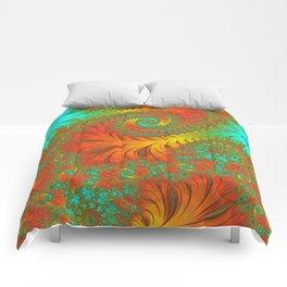 Mediterranean Muse - Fractal Art Comforters