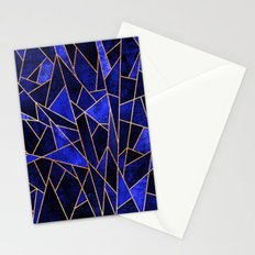 Shattered Sapphire Stationery Cards