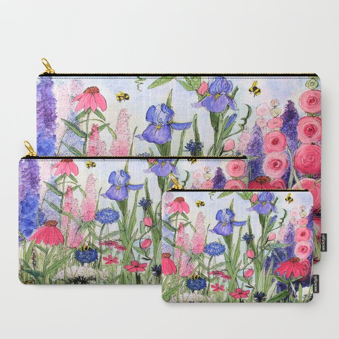Colorful_Garden_Flower_Acrylic_Painting_CarryAll_Pouch_by_Between_The_Weeds___Set_of_3