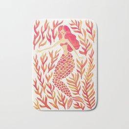 Kelp Forest Mermaid – Peach Palette Bath Mat