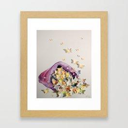 Bagful of Butterflies Framed Art Print