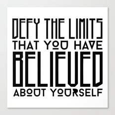Defy Your Own Limits Canvas Print