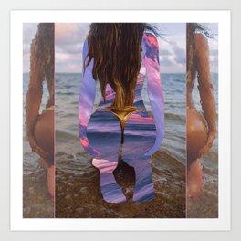 Beach Booty Art Print