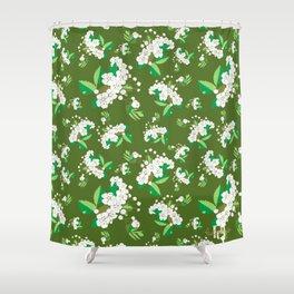 Hawthorn flower Shower Curtain