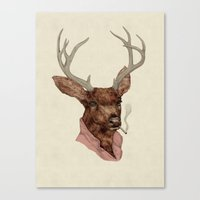 charlie Canvas Prints featuring Charlie by Animal Crew