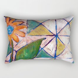 Rustic Flower Rectangular Pillow