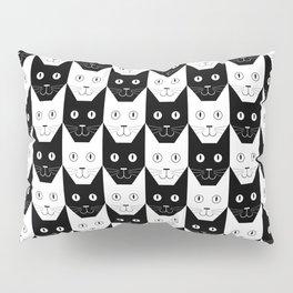 Black cat, white cat Pillow Sham