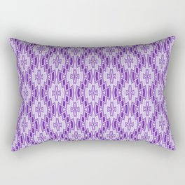 Diamond Pattern in Purple and Lavender Rectangular Pillow