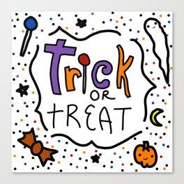 Trick or Treat Halloween | Veronica Nagorny Canvas Print
