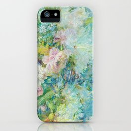 Abstract pastel spring floral iPhone Case