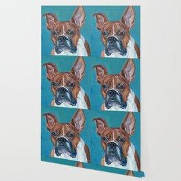 Walker the Boxer Dog Portrait Wallpaper