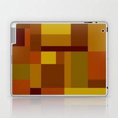Abstract #385 Golden Harvest Laptop & iPad Skin