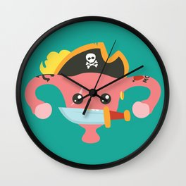 Avast, me hurties Wall Clock