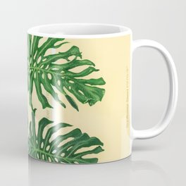 Monstera on Yellows Coffee Mug