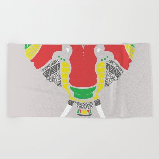 Colourful Elephant Beach Towel