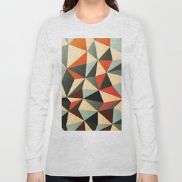 Colorful Abstract Diamond Pattern Long Sleeve T-shirt