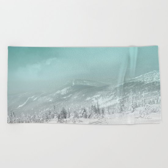 Blue mountains 2 Beach Towel