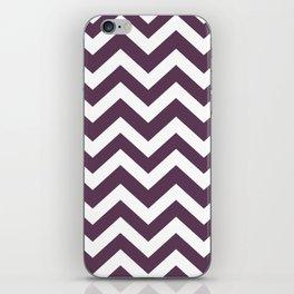 Dark byzantium - violet color - Zigzag Chevron Pattern iPhone Skin