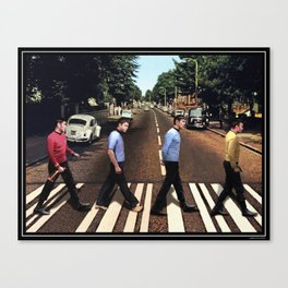 Boldly going on Abbey Road Canvas Print