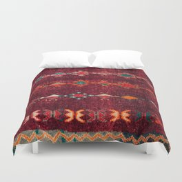 -A8- Colored Traditional Moroccan Carpet Artwork. Duvet Cover