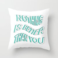 5 seconds of summer Throw Pillows featuring LOST BOY // 5 SECONDS OF SUMMER by grlpower