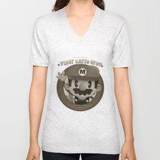 Mario Bros Fan Art Unisex V-Neck