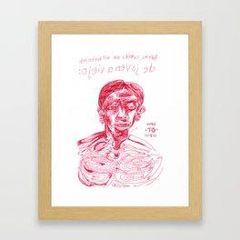 de joven a viejo Framed Art Print