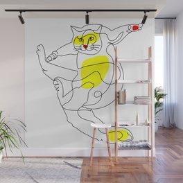 Acrobatic Cat Wall Mural