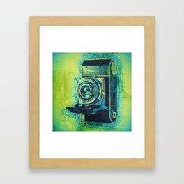 Green Retro Vintage Kodak Camera Framed Art Print