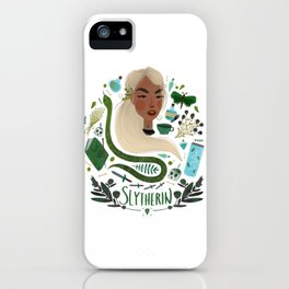 Slytherin House Illustration iPhone Case