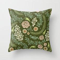 Spring's Dawn Floral Throw Pillow