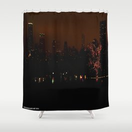 Chicago at Christmas: Zoo Lights #4 (Chicago Christmas/Holiday Collection) Shower Curtain