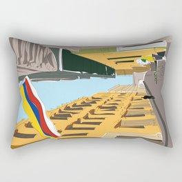 Cartagena de Indias, Colombia Travel Poster Rectangular Pillow