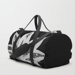 Gray Agave with Black Silver Glitter #2 #shiny #tropical #decor #art #society6 Duffle Bag