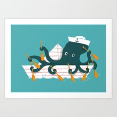Sailor Octopus Art Print