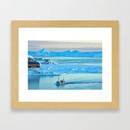 Icebergs in Disko Bay Framed Art Print