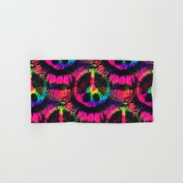 Hot Pink Peace Tie Dye Hand & Bath Towel