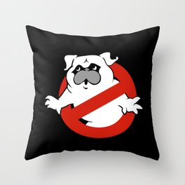 Pugbusters Throw Pillow