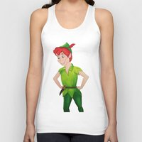 peter pan Tank Tops featuring Peter Pan by Sierra Christy Art