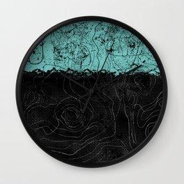 Topography Aqua Wall Clock