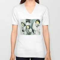 picasso V-neck T-shirts featuring Painting Picasso by Marko Köppe