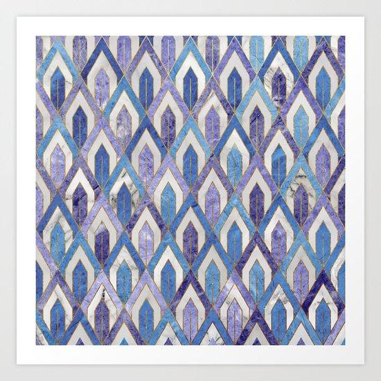 Art Deco Marble Pattern III. Art Print