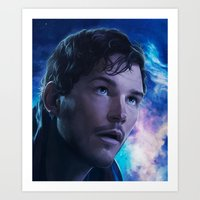 starlord Art Prints featuring Starlord by Mel's Prints
