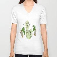 popeye V-neck T-shirts featuring Popeye  by ItalianRicanArt