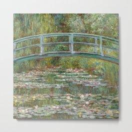 Monet, Water Lilies and Japanese Bridge, 1854 Metal Print