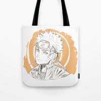 naruto Tote Bags featuring Naruto by ilaBarattolo