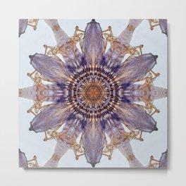 Passion Flower Mandala Metal Print