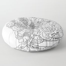 Other Worlds: Coloring Book Line Art Floor Pillow